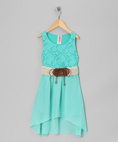 Take a look at this Mint Chiffon Dress by Just Kids on #zulily today!