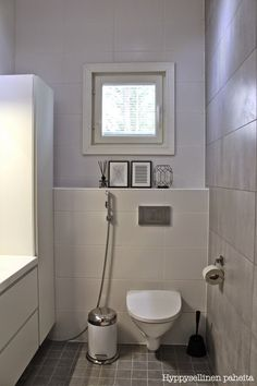 Small Bathroom, Bathroom Ideas, Room Inspiration, Indoor Outdoor, Toilet, Sweet Home, House, Furniture, Design