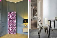 portes décorées dans un salon ou une salle à manger #porte #salon #salleamanger
