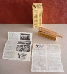Vintage Moss Double Tone Wood Turkey Call 3 Blades in Box w/ Tips & Instructions #MossbackDuelGameCalls