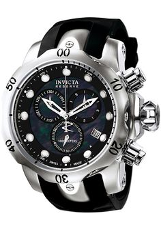 Image for Men's Reserve Chronograph Black Rubber and MOP Dial from World of Watches