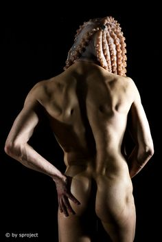 octopus I © by sproject. Gay Art, Low Key, Art Photography, Statue, Fine Art, Studio, Classic, Human Body, Body Painting