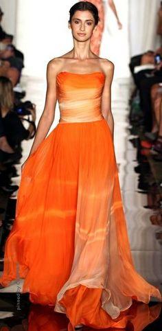 Sherri Hill - orange gown