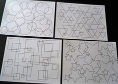 Shape coloring pages- make my own version for the kids!