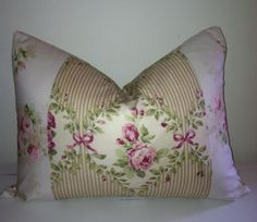 Shabby Chic Pillow Cover Cottage Pillow by CynthiaMooreDesigns