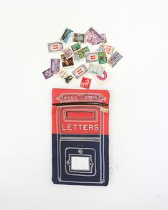 Keep your special letter-writing tools close at hand with Belle & Union Co.'s Parcel Post Mailbox pencil bag. Perfect for tucking away trinkets in your bag you want to keep hidden.