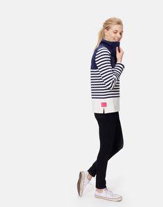Cowdray French Navy Block Sweatshirt | Joules UK