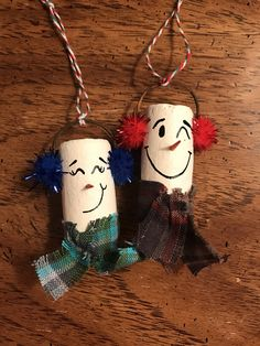 A personal favorite from my Etsy shop https://www.etsy.com/listing/574016865/snowman-wine-cork-ornament-set