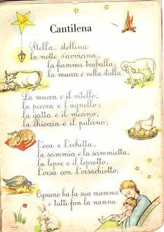 chi non l'ha impata a memoria ? Italian Lessons, Italian Words, Baby Clip Art, Baby Co, Vintage School, Italian Language, Learning Italian, Primary School, Nursery Rhymes