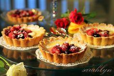 White Chocolate Tarts with Berries