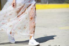 New York Fashion Week, day 3: Un abito lungo stampato