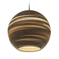 Handcrafted from recycled cardboard, graypants' flagship scraplight series provides warm, intimate, and functional lighting for any occasion or type of space. Tough and elegant, each is precision cut with a laser and assembled by hand using a nontoxic adhesive,...