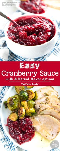 Homemade Easy Cranberry Sauce - An Easy And Versatile Recipe To Make Amazing Cranberry Sauce For Thanksgiving Plus, Leftovers Can Be Used In So Many Ways Too. By means of Theflavorbender Cranberry Salad, Canned Cranberry Sauce, Recipe For Cranberry Sauce, Cranberry Sauce For Turkey, Easy Thanksgiving Recipes, Thanksgiving Side Dishes, Holiday Recipes, Thanksgiving Cranberry Sauce, Thanksgiving Meal