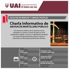 Universidad Abierta Interamericana – UAI  Charla informativa de ABOGACÍA / MARTILLERO PÚBLICO.  Si te interesa la defensa de los derechos de los ciudadanos, la justicia a través del ejercicio de la magistratura, legislar o asesorar a legisladores, participá de la charla informativa sobre la carrera e interactúa con destacados profesionales del área.  Hacé tu consulta a un representante de UAI --> http://quevasaestudiar.com/Universidad-Abierta-Interamericana-16/Abogacia-393