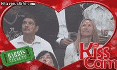 Kiss Cam On The Wrong Couple