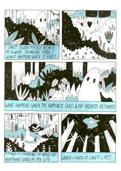 Thoughts From a Sad Ghost - Zine Background Cool, Ghost Comic, Lynda Barry, Pretty Words, Illustrations, Zine, Art Inspo, How Are You Feeling, Just For You