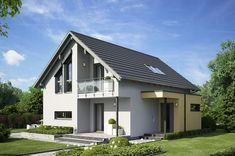 Edition 1 V6 - Bien Zenker - http://www.hausbaudirekt.de/haus/edition-1-v6/ - Fertighaus als Einfamilienhaus Modernes Haus Stadthaus mit Satteldach