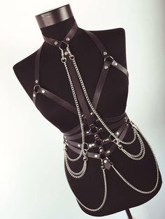 2a763faeac Full body women harness with chains