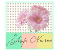Banners avatars Etsy shop set in pastel color mint yellow grey and coral color with Daisy flowers 9  NOT OOAK files garden