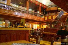 Flagship is the biggest pub in the town built in the premises of a former cinema. Bratislava, Basketball Court, Flag, Ship, Building, Travel, Viajes, Buildings, Ships