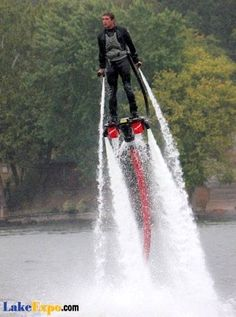 Flyboards at Lake of the Ozarks - The next big thing in extreme water sports! I am going to try this!!!!