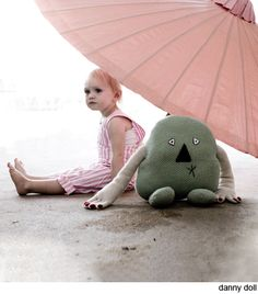 There is something so sweet about this photo and this funny little monster doll. First spotted on Oh Joy!
