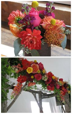 Vermont Wedding Flowers, bold blooms for Indian themed wedding #colorfulweddingflowers