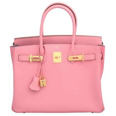 """Hermes Rose Confetti Pink """"Special Order"""" Chevre Birkin with Horseshoe Stamp 