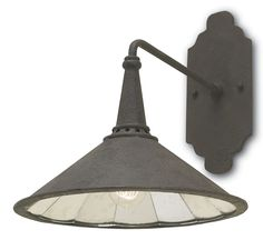 The Black Industrial Style Wall Sconce takes the form of a classic industrial light fixture. The surprise is found in the Antique Mirror glass that is fitted piece by piece inside the shade to make an Cottage Lighting, Barn Lighting, Wall Sconce Lighting, Home Lighting, Wall Sconces, Lighting Ideas, Porch Lighting, Exterior Lighting, Outdoor Lighting