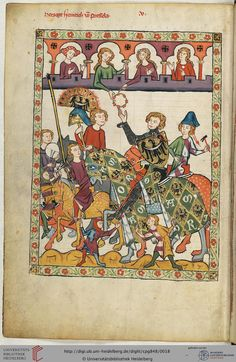 Mit großer Wahrscheinlichkeit ist hier Herzog Heinrich IV. von Schlesien-Breslau (um 1253-1290) dargestellt. Seine beiden schlichten Minnelieder zeugen von der Sängerfreundlichkeit am Breslauer Hof.