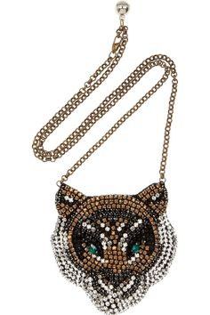 Shourouk | Tiger Swarovski crystal necklace | NET-A-PORTER.COM