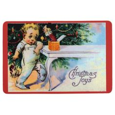 CHRISTMAS JOYS FLOOR MAT - home gifts ideas decor special unique custom individual customized individualized