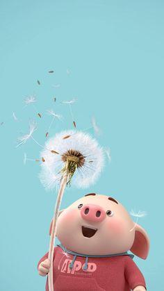 Wall paper whatsapp art happy Ideas for 2019 Pig Wallpaper, Disney Wallpaper, Wallpaper Backgrounds, Iphone Wallpaper, This Little Piggy, Little Pigs, Cute Piglets, 3d Art, Pig Illustration