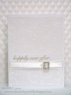 White on white (ribbon with buckle) wedding or anniversary