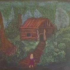 Waldorf 1st grade chalkboard ~ 'H' - The Hut in the Forest ~ more chalkboard drawings listed http://instagram.com/asgfp