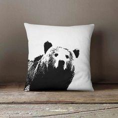 Woodland Pillow Cover - Bear - Infant Pillow - Woodland Nursery - Woodland Pillow - Decorative Pillow - Woodland Decor - Bear Home Decor