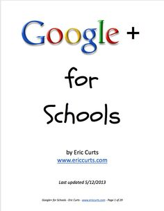 [Google Drive] Google+ for schools