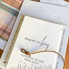 Robinson Press Custom Letterpress Invitation