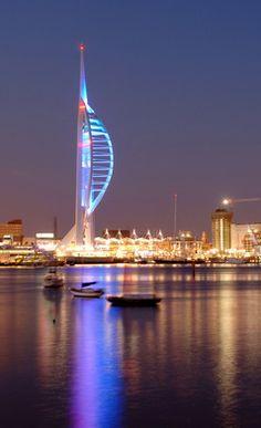 Spinnaker Tower, Portsmouth.. Portsmouth, Burj Khalifa, Hampshire, United Kingdom, Coast, Tower, England, The Unit, City