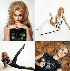 Jane Fonda you saucy minx you. Barbarella.. if you haven't seen this and you are a boy, or a girl who 'appreciates a woman' then clap your eyes on the softcore delights of Barabarella. Going where no woman has gone before ;)