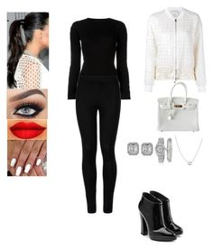 """Untitled #415"" by insafsat on Polyvore featuring Alexander Wang, Wolford, Giuseppe Zanotti, Hermès, 3.1 Phillip Lim, Cartier, Effy Jewelry and Rolex"
