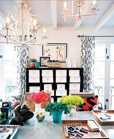 love the accents of color!
