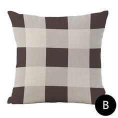 Gray and brown plaid throw pillows for living room, minimalist style. Gray and black striped modern couch pillows, cushions set linen fabric, filled with PP cotton. Modern Couch, Living Room Modern, Couch Pillows, Throw Pillows, Black Stripes, Decorative Pillows, Gray, Decorative Throw Pillows, Toss Pillows