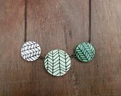 Chevron Necklace completely made by one artist's dirty hands.
