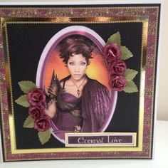 A beautiful woman to compliment any handcrafted card thank you to Debbie Moore for the Fire Goddess disc x