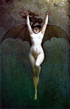 """La Chauve-souris"", Albert-Joseph Penot, 1910."