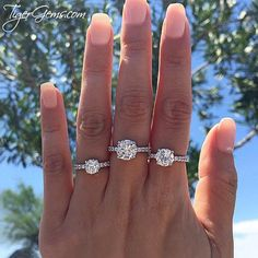 Which size would you wear? The 1.25, 3.25, or 2.25 ctw accented solitaire from Tiger Gems?