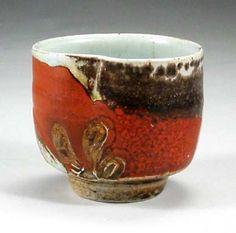 saltglazed stoneware tea bowl  10cm., Christine Pedley  La Borne, France