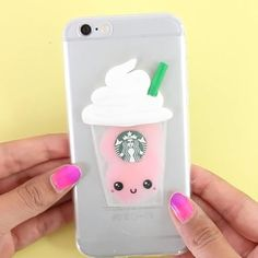 "74.6 k mentions J'aime, 673 commentaires - Nim C (@allthingsnim) sur Instagram : ""Starbucks Liquid Phone Case  the complete tutorial is up on my channel (link in bio). """