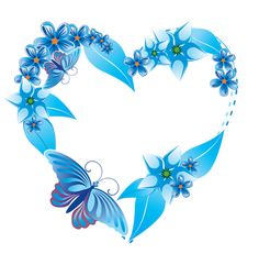 Blue heart and butterfly. Love Heart Images, I Love Heart, Heart Pics, Heart Wallpaper, Love Wallpaper, Heart Clip Art, Hearts And Roses, Blue Hearts, Heart Cards